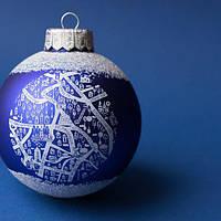 Новорічна кулька /новогодний шарик