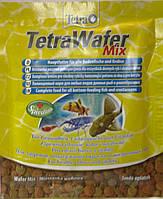 Тетра/TETRA WAFER MIX полноценный корм для всех видов донных рыб и ракообразных, 15гр