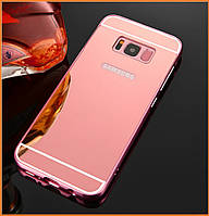 Металлический бампер Epik с акриловой вставкой с зеркальным покрытием для Samsung Galaxy S8 SM-G950 Rose Gold