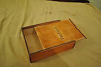 Красивая подарочная коробка из дерева тонированная , фото 1