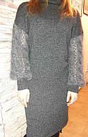 Платье вязанное стильное