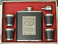 """Набор с флягой """"Jack Daniel's"""" (540 мл) нерж., кожа"""