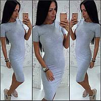 Трикотажное женское платье ( 056)