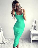 Платье миди мята   ( 008)