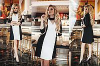 Платье креп сафари+костюмка норма Мод 283 (AMBR)