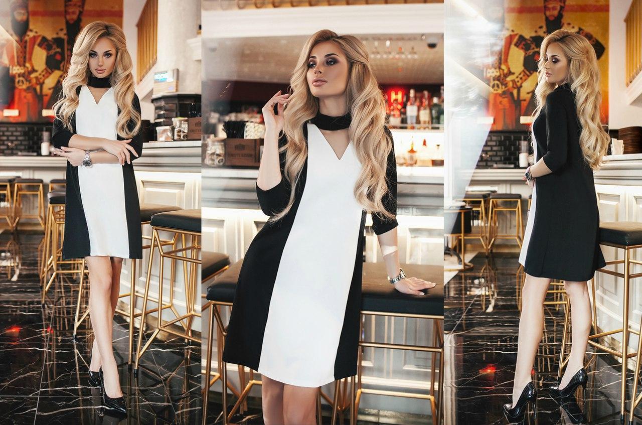 Платье креп сафари+костюмка норма Мод 283 (AMBR)  - Секрет  женская одежда оптом в Одессе