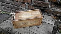 Деревянная коробка для хранения специй винтаж