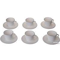 Белый кофейный сервиз 12 предметов (1853)