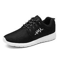 Белый Черный Черно-белый-Для мужчин-Для прогулок Повседневный Для занятий спортом-ТюльУдобная обувь Светодиодные подошвы Пара обуви- 05769564