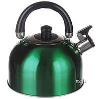 Чайник 3 литра для газовой плиты Зеленый (1330)