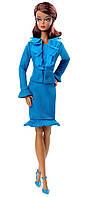Barbie барби Коллекционная Синий Костюм Fashion Model Collection Suit Doll Blue DGW57, фото 1