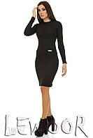 Теплое платье из трикотажной вязки