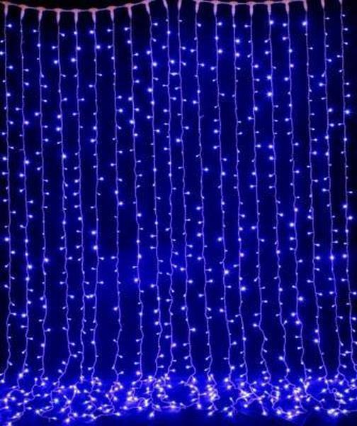 Штора неоновая, Занавес 720 led, 2Х1м, уличная прозрачный провод Световый дождь ПЛЕЙ-ЛАЙТ (PLAYLIGHT) лед, фото 1