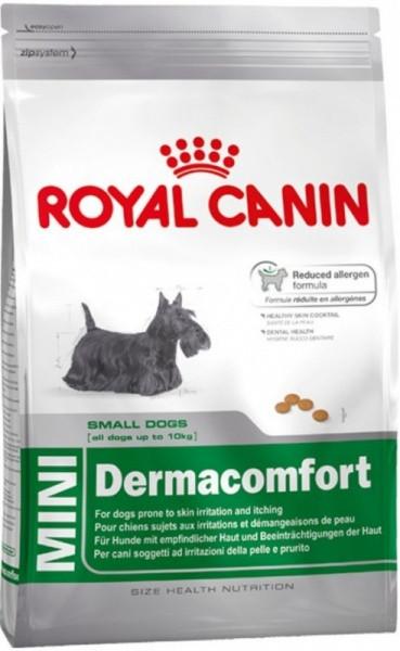 Сухой корм Royal Canin (Роял Канин) MINI DERMACOMFORT для собак мелких пород с чувствительной кожей, 0,8 кг