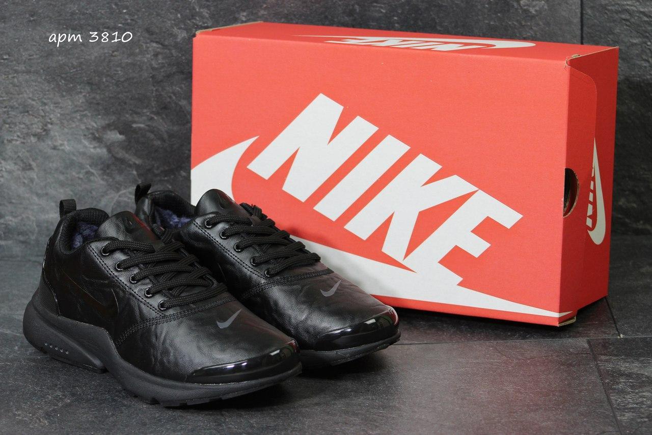 Зимние кроссовки Nike air presto,черные 46