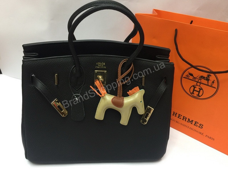 b4bb0f35303c Брендовая кожаная сумка (сумочка ) Hermes Birkin Black 1433 - купить ...