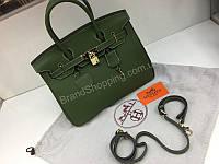 Модная женская  кожаная сумка Hermes Birkin Lux 30см