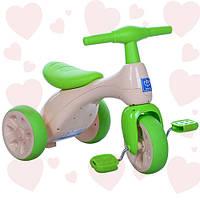 Велосипед трехколесный Bambi 601S-5 бело-зеленый