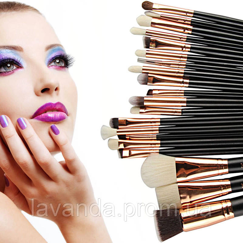 Набор кистей для макияжа Zoeva  ( реплика ) 20 шт  без логотипа