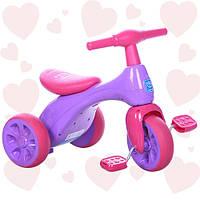 Велосипед трехколесный Bambi 601S-8 фиолетово-розовый