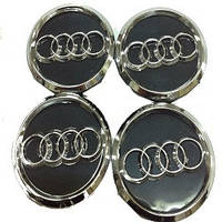 Колпачки заглушки на титановые диски Audi 60/55 мм