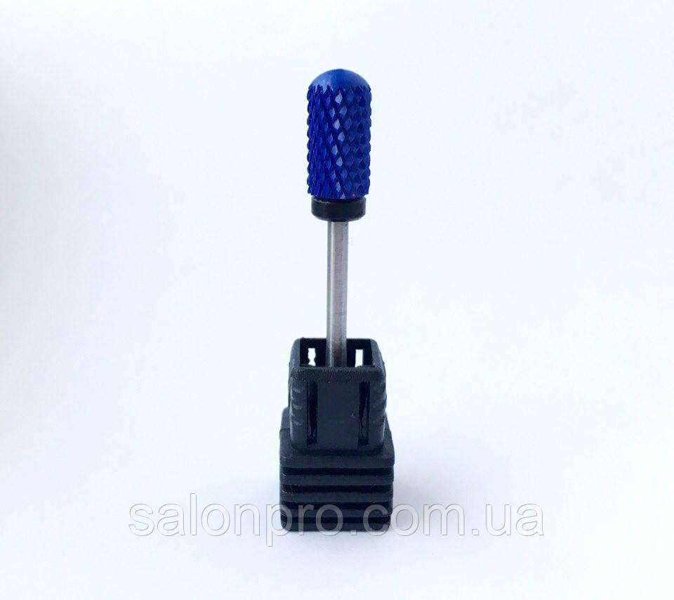 Насадка керамическая для снятия геля, (синяя на черном держателе) XC Barell Ball