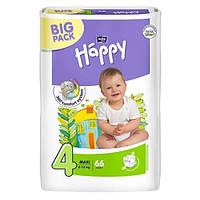 Подгузники Bella Happy Maxi 4 (8-18 кг) BIG PACK 66шт белла хеппи