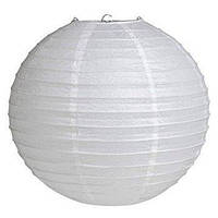 Бумажный подвесной шар белый, 25 см