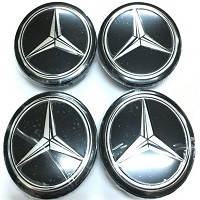Колпачки заглушки на титановые диски Mercedes 60/55 мм