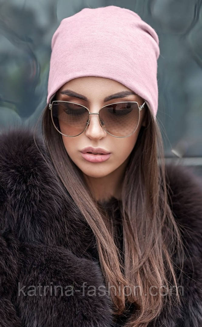 Женская модная шапка из ангоры с украшением (2 цвета)