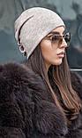 Женская модная шапка из ангоры с украшением (2 цвета), фото 3