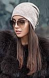 Женская модная шапка из ангоры с украшением (2 цвета), фото 4