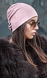 Женская модная шапка из ангоры с украшением (2 цвета), фото 6