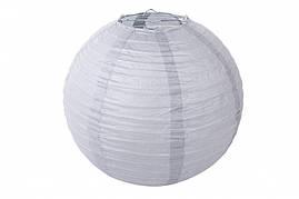 Бумажный подвесной шар серый, 25 см