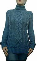 Купить свитер в интернете недорого, недорогие женские кофты, кофта купить Украина, размеры 44-50. лазурь