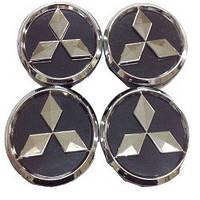 Колпачки заглушки на титановые диски Mitsubishi 60/55 мм