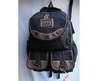 Рюкзак из  джинсовой ткани с тремя  карманами