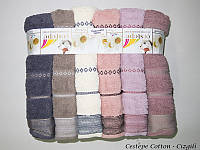 Набор полотенец Cestepe Vip Cotton Cizgili 50х90 6шт, фото 1