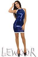 Платье в стиле диско из ткани- пайетка на микродайвинге