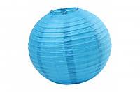Бумажный подвесной шар бирюзовый, 25 см