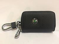 Чехол для ключей с карабином, логотип Skoda