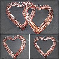 Сердце из лозы, ручная работа, 24х24 см., 75 гр.
