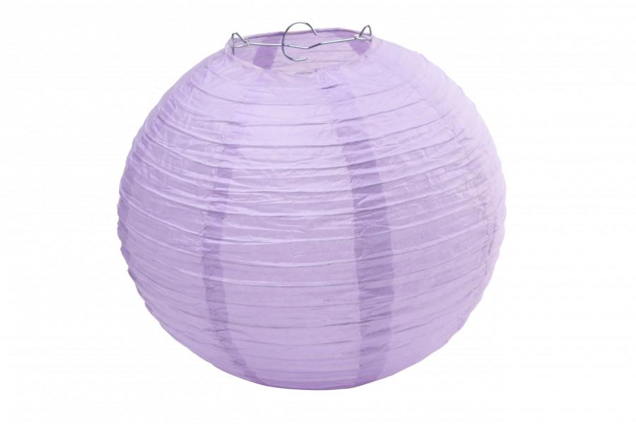 Бумажный подвесной шар сиреневый, 25 см