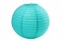 Бумажный подвесной шар мятный, 25 см