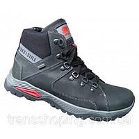 Ботинки зимние мужские №41, черные с серым