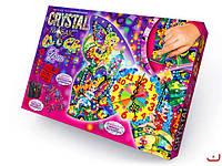 """Набор для творчества """" Crystal Mosaic Clock"""" Часы мозайка c кристаллами"""