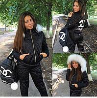 """Женский рюкзак """"Chanel"""" из стеганной  экокожи"""