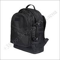 Тактический, туристический, городской рюкзак 40 литров черный для военных, рыбалки, нейлон