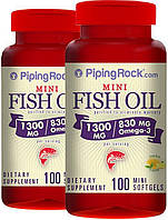 Витамины и минералы Piping Rock Omega-3 Fish Oil 1300 mg Lemon Flavor 100 cap