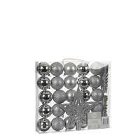 """Елочные шарики """"House of Seasons"""" набор из 33 шт, цвет: оттенки серого"""